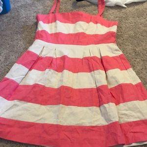 Loft striped linen dress